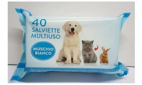 3 x 2 - 40 salviette animali domestici varie fragranze