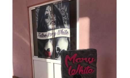 Offerta Tattoo Mary white